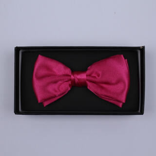 Plain Hot Pink Bow Tie-0