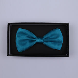 Plain Blue Bow Tie-0