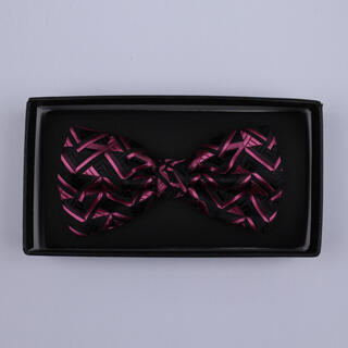 Black/Pink Arrow Bow Tie-0