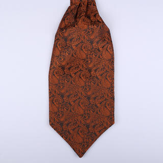 burnt Orange Paisley Self-Tie Cravat-0
