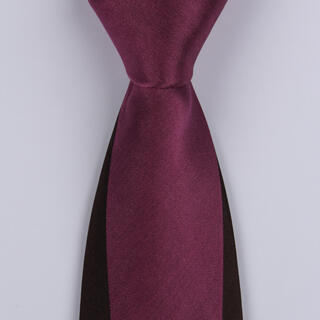 Maroon/Black Block Sorrento Printed Silk Ties-0