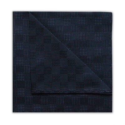 BLACK HOUNDSTOOTH CHECK SQUARE-0