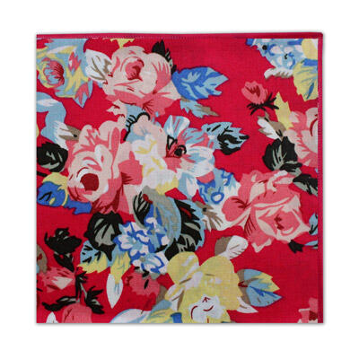 BRIGHT PINK LARGE FLORAL SQUARE-0