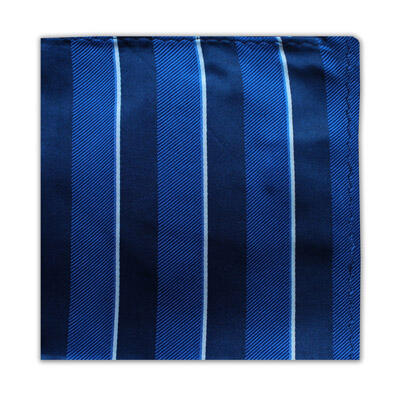 ROYAL BLUE, NAVY & WHITE STRIPE SQUARE-0