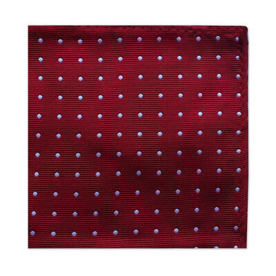 BURGUNDY & WHITE POLKA DOT SQUARE-0
