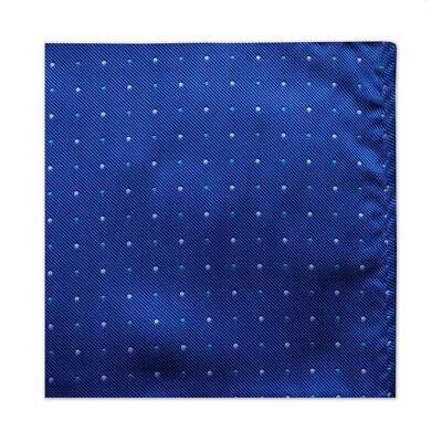 ROYAL BLUE & WHITE POLKA DOT SQUARE-0