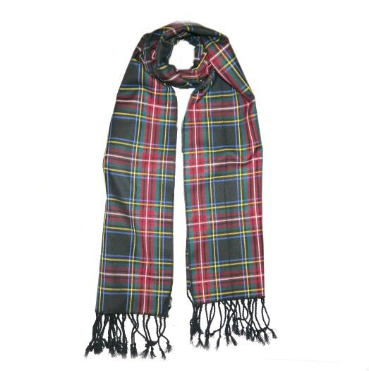 Multi Red/green Tartan Wool Scarf-0
