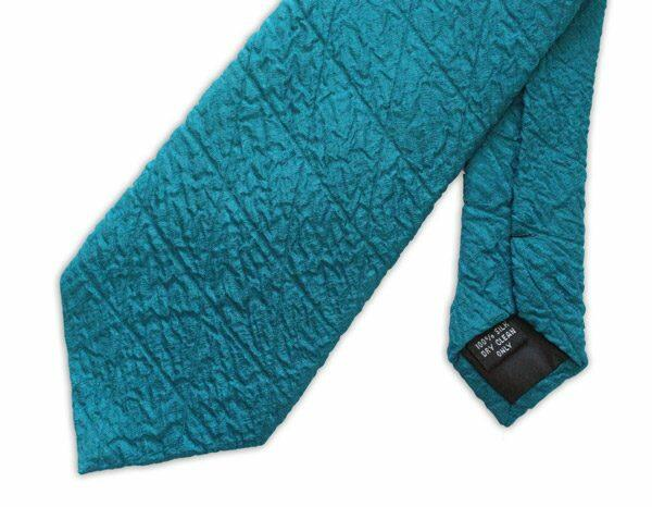 Teal Quilted Tie-0