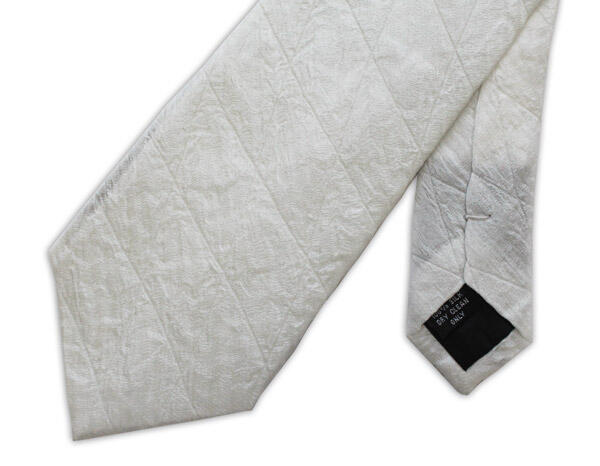 White Quilted Tie-0