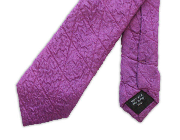 Magenta Skinny Quilted Tie-0