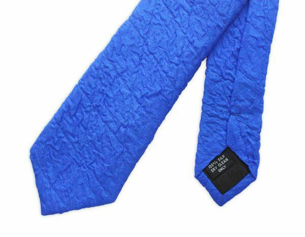 Blue Skinny Silk Quilted Tie-0
