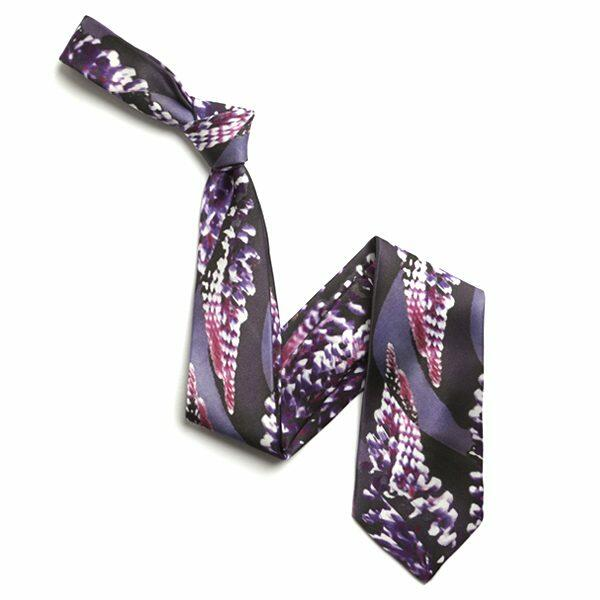Purple/Pink Abstract floral Sorrento Silk Tie-0