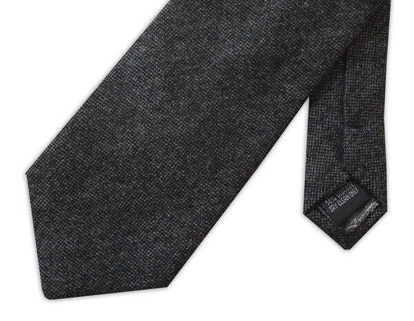 BLACK mottled TWEED TIE-0