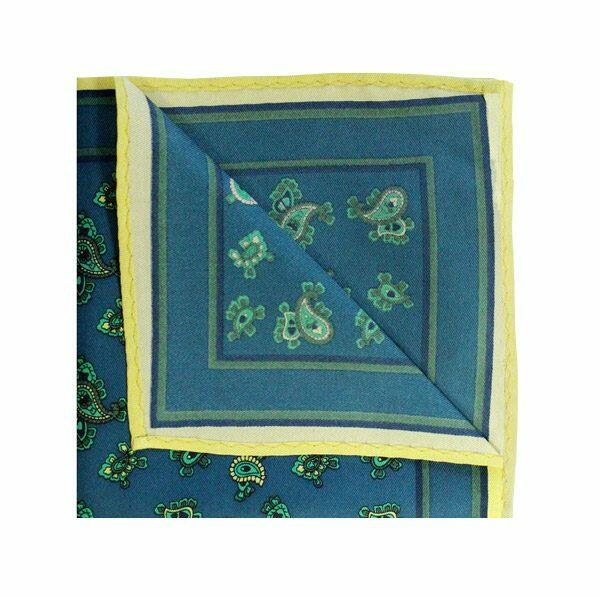 TURQUOISE/YELLOW SMALL PAISLEY square-0