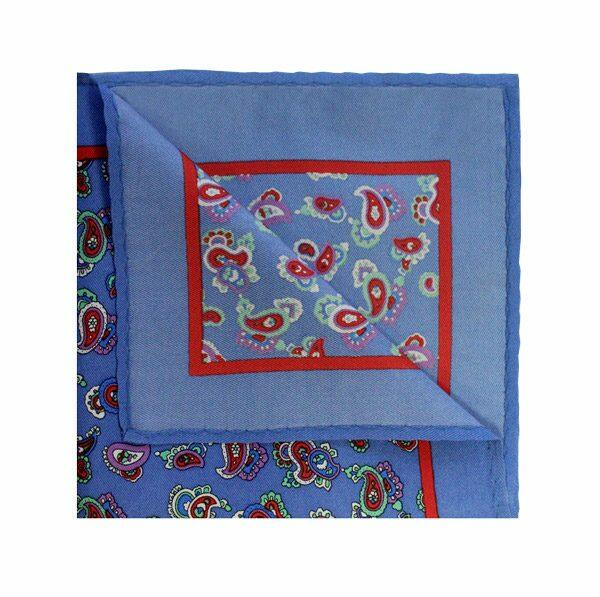 SKY BLUE/RED PAISLEY SQUARE-0