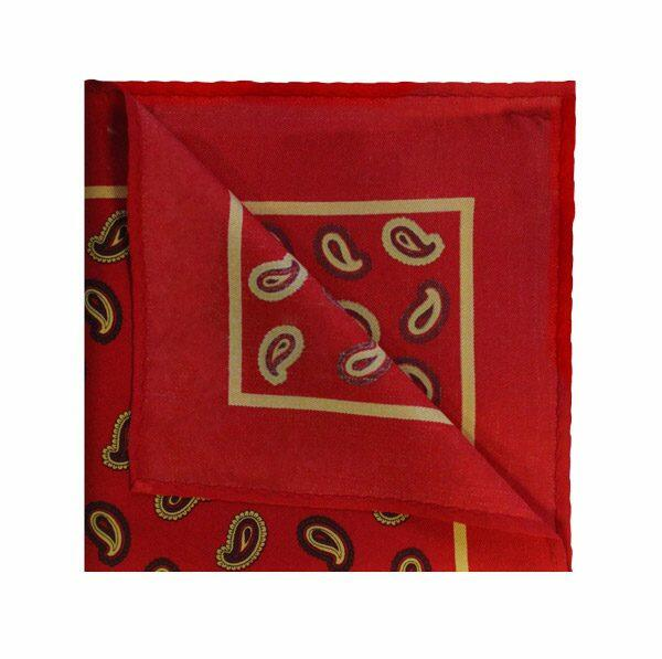 Red/Burgundy PAISLEY SQUARE-0