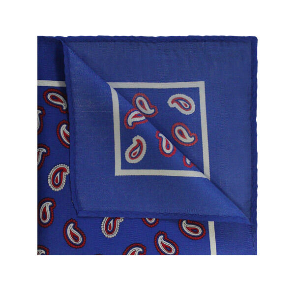 Blue/Red PAISLEY SQUARE-0