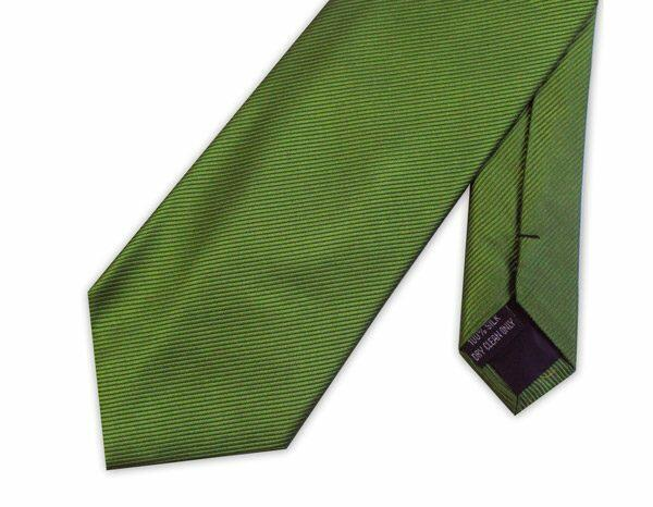 OLIVE GREEN WOVEN SILK TIE-0