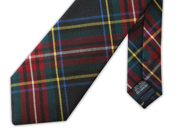 Green and Red TARTAN TIE-0