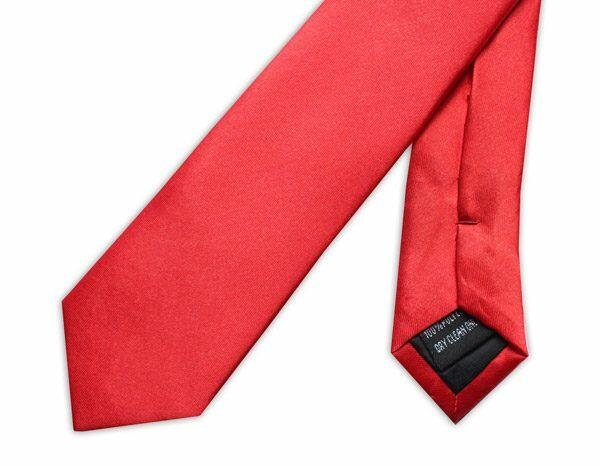 SKINNY BRIGHT RED TIE-0