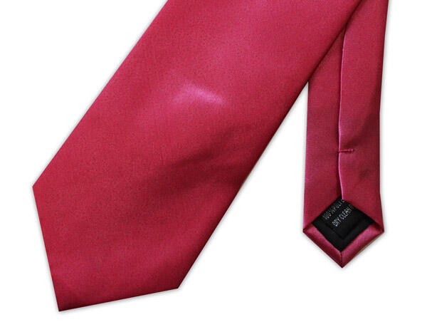 RED POLY-SATIN TIE-0