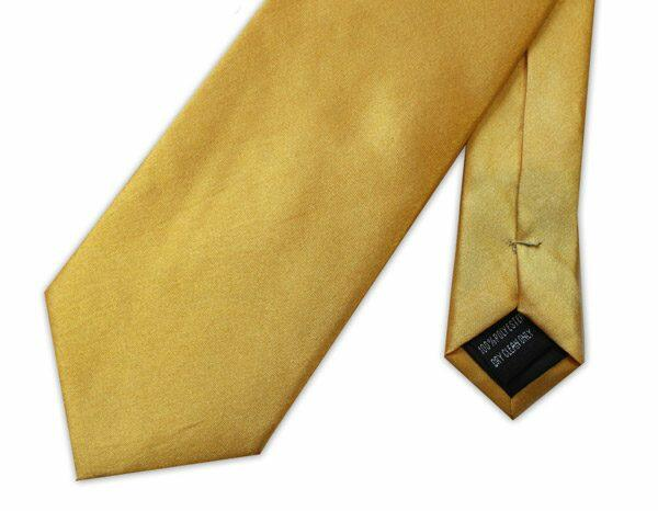BRIGHT YELLOW POLY-SATIN TIE-0