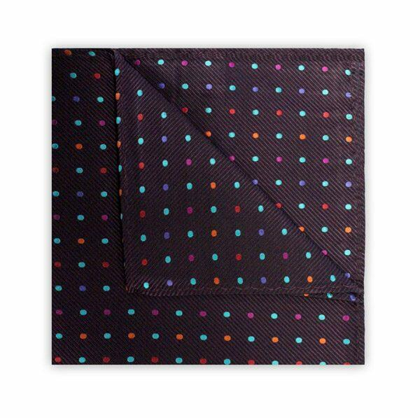 PURPLE MULTI-COLOUR SPOT SQUARE-0