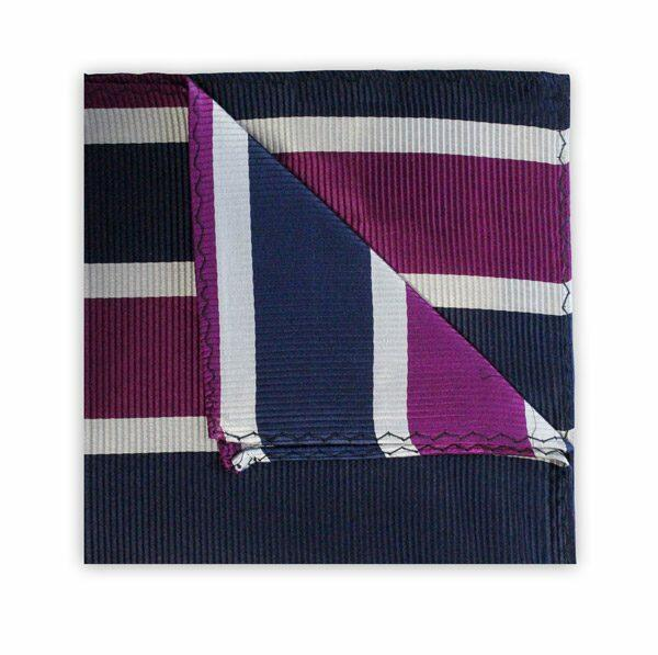 NAVY/PURPLE/WHITE STRIPE SQUARE-0