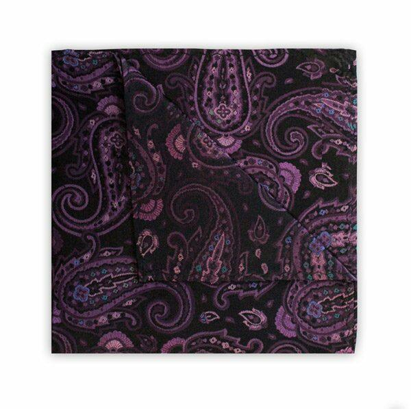 PURPLE/BLACK PAISLEY SQUARE-0