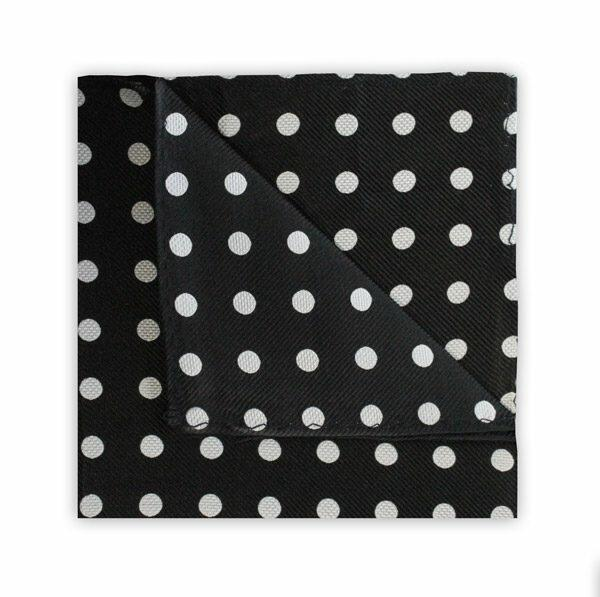 BLACK/WHITE POLKA DOT SQUARE-0