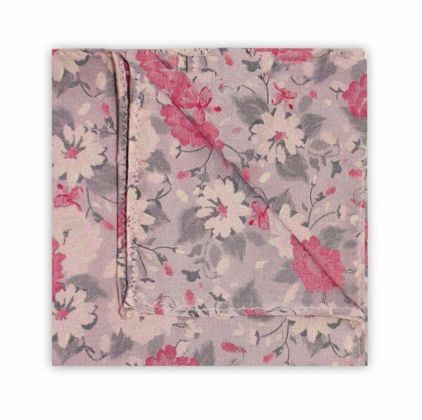 PINK/GREY FLORAL SQUARE-0