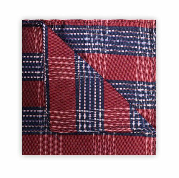 RED/NAVY CHECK SQUARE-0