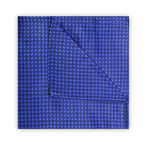 ROYAL BLUE/NAVY HOUNDSTOOTH SQUARE-0