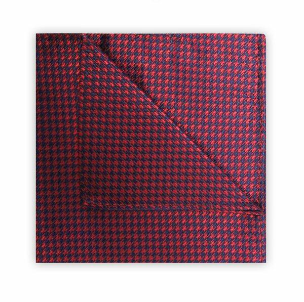 RED/NAVY HOUNDSTOOTH SQUARE-0