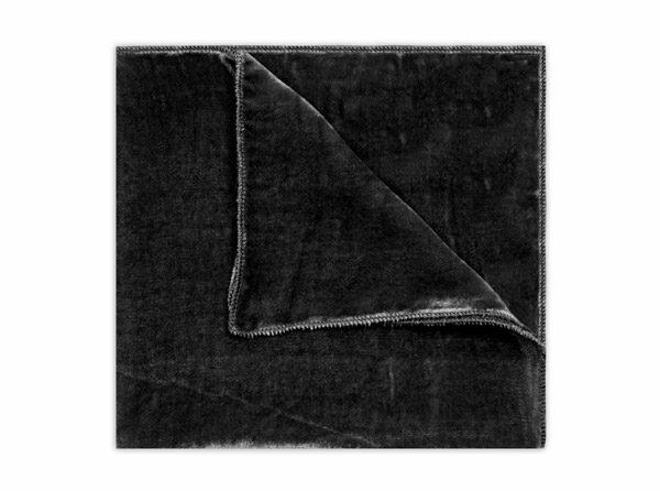 BLACK SILK VELVET SQUARE-0