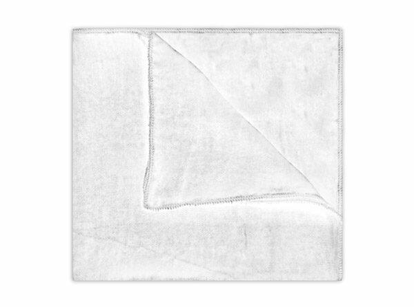 WHITE SILK VELVET SQUARE-0