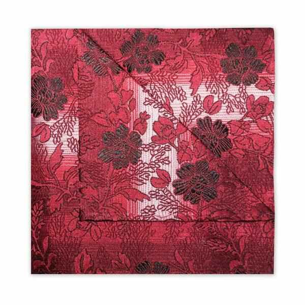 RED/BURGUNDY FLORAL SQUARE-0