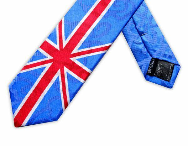 SINGLE UNION JACK SKINNY TIE-0