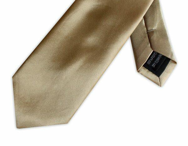 GOLD POLY SATIN TIE-0