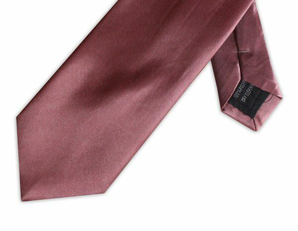 SOFT BURGUNDY POLY SATIN TIE-0