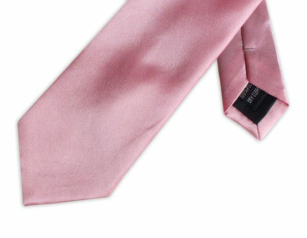 BRIGHT PINK POLY SATIN TIE-0