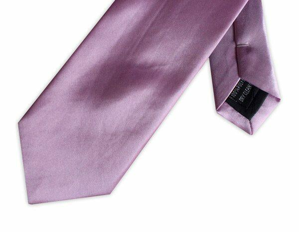 PURPLE POLY SATIN TIE-0