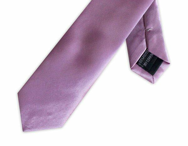 SLIM PURPLE POLY SATIN TIE-0
