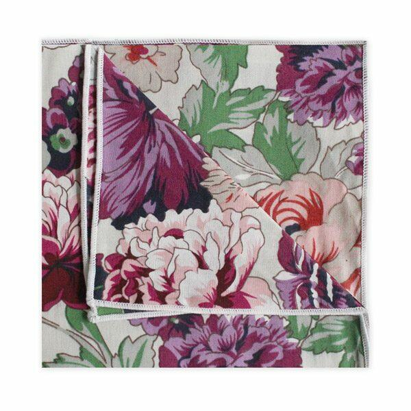 PINK/PURPLE/GREEN FLORAL SQUARE-0