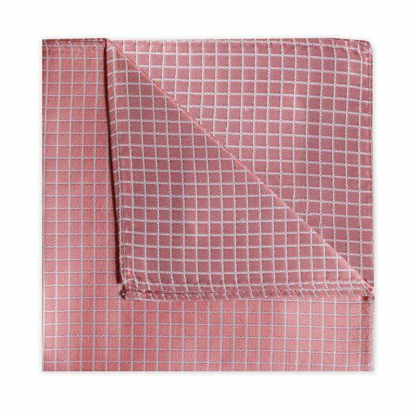SALMON PINK CHECK SQUARE-0