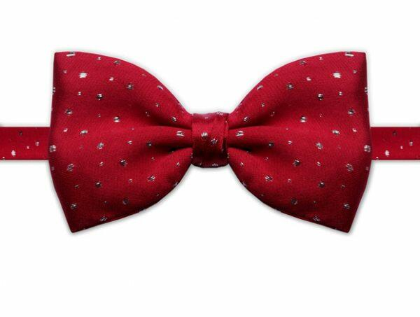RED & SILVER BOW TIE-0