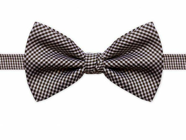 BLACK & WHITE HOUNDSTOOTH BOW TIE-0